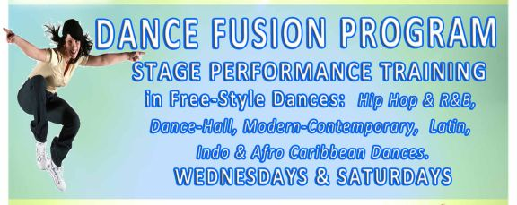 Free-Style, Hip-Hop, Dance-Hall, Latin, Modern-Contemporary, Folk, Indo & Afro Caribbean Dance